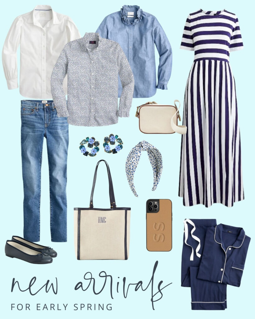 Nautical inspired outfits for spring including a striped maxi dress, floral top, linen tote, leather phone case, and more. And most of the items are on sale this weekend!
