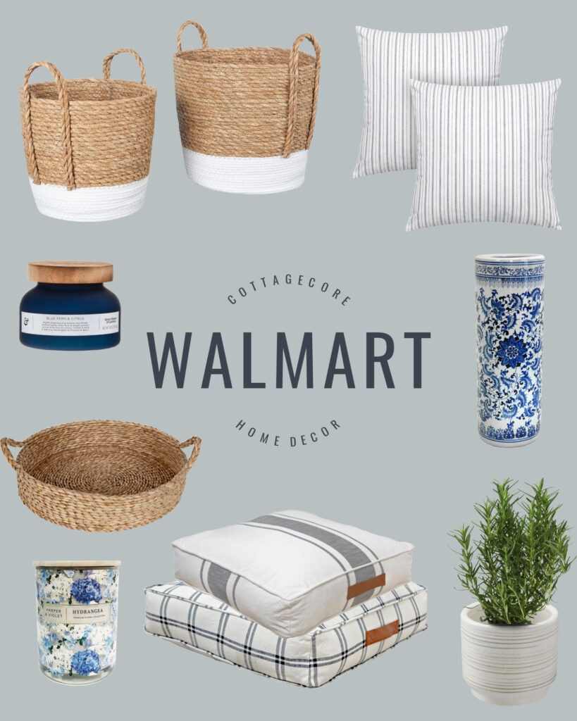 Walmart home decor finds that fit the new cottagecore trend that is popping up everywhere!