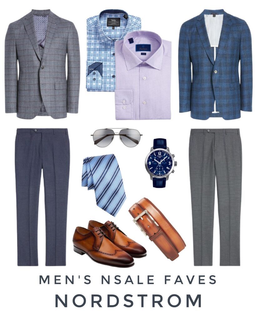 Nordstrom Anniversary Sale picks for men's fashion including sports coats, dress pants, loafers, Tissot watch, dress shirts and more!