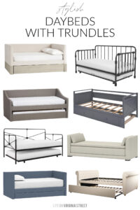 Daybeds With Trundles (And a Home Office Update)